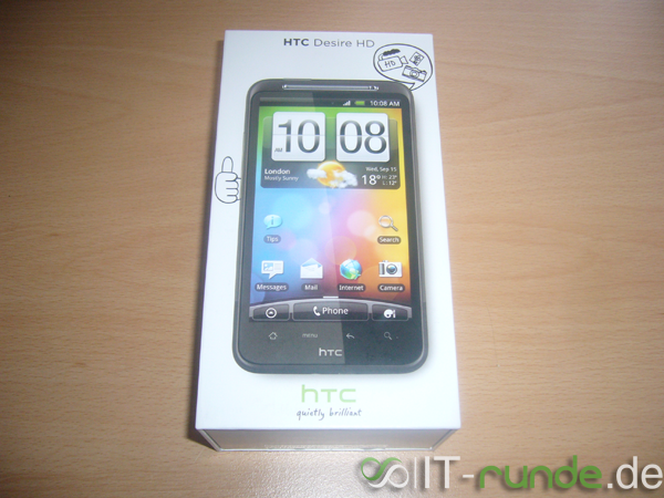 Mein HTC Desire HD - Unpacking